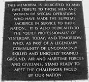 this memorial is dedicated and pays tribute to those who have made the supreme sacrifice through their service to the US special operations command